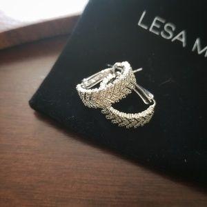 ⬇️ NWT • Latch Back Sterling Silver Earrings